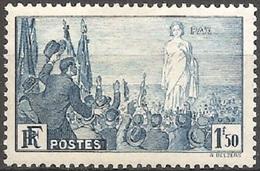 "FR328L - 1936 France, ""Pax"" N° 328, 1F.50c. Bleu, Neuf Avec Charnière */ - Nuovi"