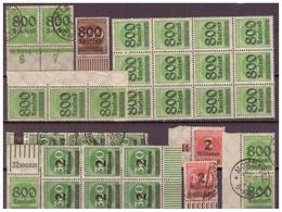 DR: 1923,  Aus Nr. 301-12, Postfrisch - Deutschland