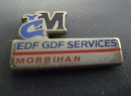 Pin's EDF GDF Services MORBIHAN (56) @ 26 Mm X 14 Mm - EDF GDF