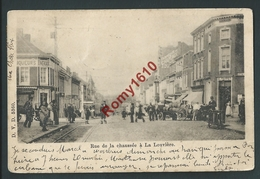 La Louvière. Rue De La Chaussée. D.V.D. N°5360. Attelages, Animation. Circulé En 1901. .  2 Scans. - La Louvière