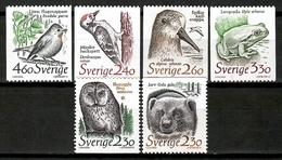 Sweden 1989 Suecia / Birds Mammals Bear Frog MNH Vögel Säugetiere Aves Mamíferos Oso Rana / Cu13910  4 (26) - Pájaros