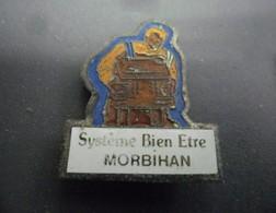 Pin's EDF GDF Système Bien être MORBILHAN (56) @ 25 Mm X 21 Mm - EDF GDF