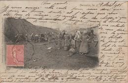 59 DENAIN 1906 Cafus Dans Le Charbon Plan Animé - Denain