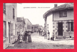 F-51-Somme-Suippes-02P65  Rue De La Lombardie, Belle Animation, Cpa BE - France