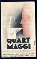 CPA ANCIENNE- FRANCE- PUB DU LAIT MAGGI-  3 IMAGES RECTO VERSO- 2 SCANS - Werbepostkarten
