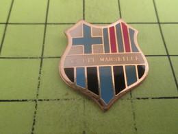 713h Pin's Pins / Beau Et Rare : THEME SPORTS / CLUB ASPTT MARSEILLE BLASON ECUSSON - Badges