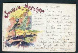 "Monaco - Carte Postale "" Souvenir De Monte Carlo "" , Illustrateur -  Réf JJ 3 - Monaco"