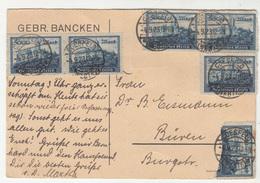 Gebr. Bancken, Coesfeld Company Postal Card Travelled 1923 INFLA B190701 - Allemagne