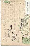 "N°83 Dixmude 18.X.11 S/CP V.Bruges-INCONNU+REBUT - ""voir Bruxelles"".TB - 1893-1907 Coat Of Arms"