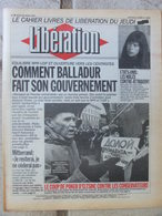 Journal Libération (25 Mars 1993) Balladur Et Gouvernement - USA Les Mâles Contre Attaquent - Ecotaxe - Srebrenica - Zeitungen