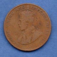 Mauritius  -- 5 Cents 1920  - -  Km # 14 -  état  B - Mauritius