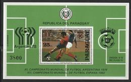 PARAGUAY - BLOC N°343 ** (1979) Football / Argentina 78 + Espana 82 - 1978 – Argentine