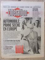 Journal Libération (9 Mars 1993) Automobile En Europe - Gardes à Vue - Mort Employé De Banque - Traylor - Zeitungen