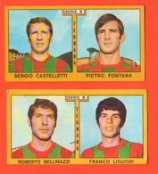 Calcio Figurine PANINI VALIDA Calciatori TERNANA Football Club 1969 - 1970 Bellinazzi Liguori Castelletti Fontana - Edizione Italiana