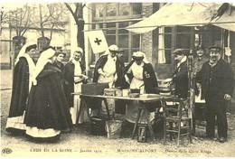 CPA N°24734 - CRUE DE LA SEINE - JANVIER 1910 - MAISONS ALFORT - DAMES DE LA CROIX ROUGE - REPRODUCTION - Maisons Alfort