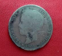 UNA PESETA  1901 ALFONSO XIII   N°303 D - [ 1] …-1931 : Royaume