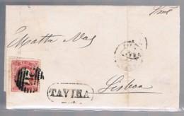 Portugal, 1868, # 30, Tavira-Lisboa - 1862-1884 : D.Luiz I