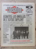 Journal Libération (5 Mars 1993) Les écoutes -Contrebandiers De L'atome -Arménie  - Environnement Saumons Loire - Zeitungen