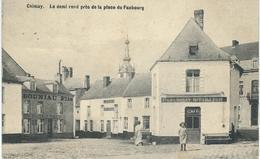 CHIMAY : Le Demi Rond Près De La Place Du Faubourg - TRES RARE CPA - Cachet De La Poste 1919 - Chimay