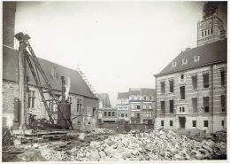 DENDERMONDE - FOTOKAART (17 X 12 Cm) Oktober 1925 - Funderingen Van Het Stadhuis - Dendermonde