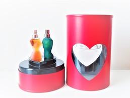 Miniatures De Parfum COFFRET DUO SAINT VALENTIN 2002 De  JEAN PAUL GAULTIER  EDT  3.5 Ml LE MÂLE Et CLASSIQUE  + Boite - Modern Miniatures (from 1961)