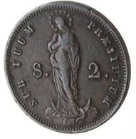 Genova. Repubblica Genovese. 1814. 2 Soldi 1814. MI. Pag. 33. Mont. 114 D.321 - Regional Coins