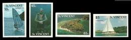 ST VINCENT 1988 TOURISM IMPERF SPORT SCUBA DIVING WINDSURFING SAILING SHIPS MNH - St.Vincent (1979-...)