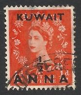 Kuwait, 1/2 A. On 1/2 P. 1953, Sc # 102, Mi # 94, Used. - Kuwait