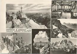 W3701 Forcella Staunies - Monte Cristallo (Belluno) - Capanna Rifugio Lorenzi - Panorama Vedute Multipla / Non Viaggiata - Altre Città