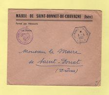 St Marcellin CP N°8 - Isere - 5-5-1953 - Correspondants Postaux - Mairie De Saint Bonnet De Chavagne - 1921-1960: Modern Period