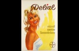 @@@ MAGNET - Delial, Reizwoll, Samtne Sonnenbräune. Bayer - Publicitaires