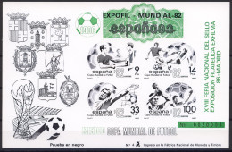 Football / Soccer / Fussball - WM 1986:  Spanien  Schwarzdruck - Grüner Aufdruck (*) - World Cup