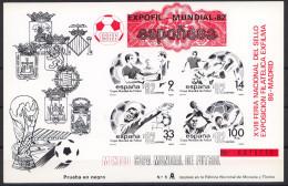 Football / Soccer / Fussball - WM 1986:  Spanien  Schwarzdruck - Roter Aufdruck (*) - World Cup