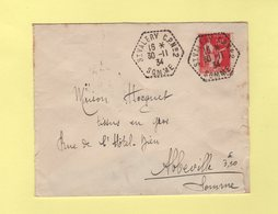 St Valery CP N°2 - Somme - 30-11-1934 - Correspondants Postaux - 1921-1960: Periodo Moderno