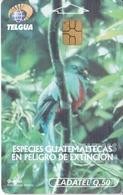 TARJETA DE GUATEMALA DE UN QUETZAL (BIRD-PAJARO) - Guatemala