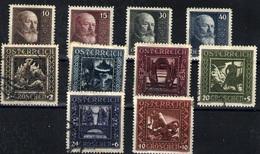 Austria Nº 374/7, 368/73. Año 19- - 1918-1945 1ra República