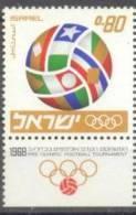 1968 Football Tournament Bale 397 / Sc 361 / Mi 416 TAB MNH/neuf/postfrisch [gra] - Israël