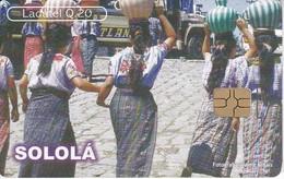TARJETA DE GUATEMALA DE SOLOLA - MUJERES TZUTUHILES  (LADATEL-TELGUA) - Guatemala
