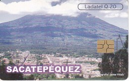 TARJETA DE GUATEMALA DE SACATEPEQUEZ - VISTA DESDE EL CERRO DE LA CRUZ  (LADATEL-TELGUA) - Guatemala