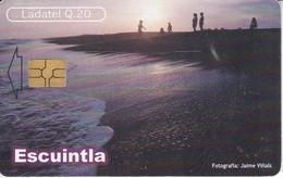TARJETA DE GUATEMALA DE ESCUINTLA - PUERTO DE SAN JOSE CHIP NEGRO (LADATEL-TELGUA) - Guatemala