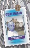 TARJETA DE GUATEMALA DE HOMBRES CELEBRES - FRANCISCO MARROQUIN (SELLO-STAMP) (LADATEL-TELGUA) - Guatemala