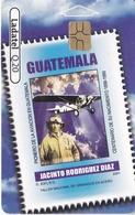 TARJETA DE GUATEMALA DE HOMBRES CELEBRES - JACINTO RODRIGUEZ (SELLO-STAMP) (LADATEL-TELGUA) - Guatemala