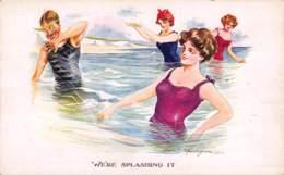 CPA ILLUSTRATEUR FEMME ART NOUVEAU DECO  ARTIST SIGNED GLAMOUR CARD LADY FRED SPURGIN - Spurgin, Fred