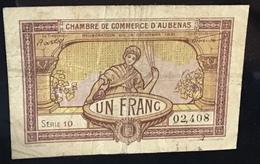 CHAMBRE DE COMMERCE D' AUBENAS 1921 1 Franc (France Ardèche 07 Banknote Billet Geldschein - Handelskammer