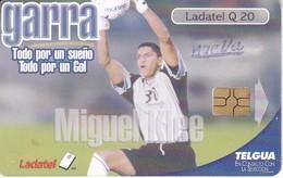 TARJETA DE GUATEMALA DE MIGUEL KLEE (FUTBOL - FOOTBALL) (LADATEL-TELGUA) - Guatemala