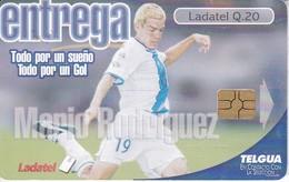 TARJETA DE GUATEMALA DE MARIO RODRIGUEZ (FUTBOL - FOOTBALL) (LADATEL-TELGUA) - Guatemala