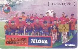 TARJETA DE GUATEMALA DEL CLUB MUNICIPAL (FUTBOL - FOOTBALL) (LADATEL-TELGUA) - Guatemala