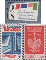 USA 901A,903,904 (kompl.Ausg.) Postfrisch 1966 SIPEX, Grundrechte, Polen - United States