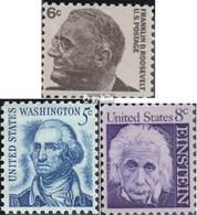 USA 894x A,895x A,896x (kompl.Ausg.) Postfrisch 1966 Roosevelt, Washington, Einstein - Stati Uniti