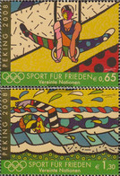 UN - Vienna 545-546 (complete Issue) Unmounted Mint / Never Hinged 2008 Olympics Summer - Vienna – International Centre